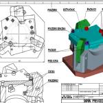 Detail řešení hydraulického upínání AL výlisku pro automotive